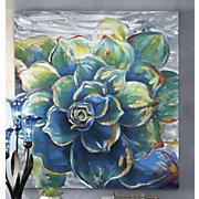succulent painting on aluminum