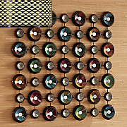 colorful disks wall decor