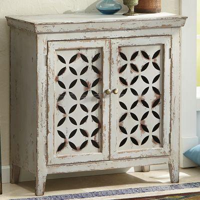 2-Door Cross-Pattern Cabinet