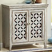 2 door cross pattern cabinet