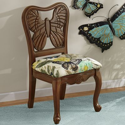 Butterfly Hand-Carved Chair