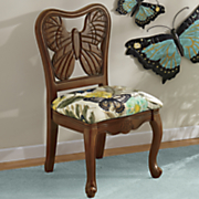 butterfly hand carved chair