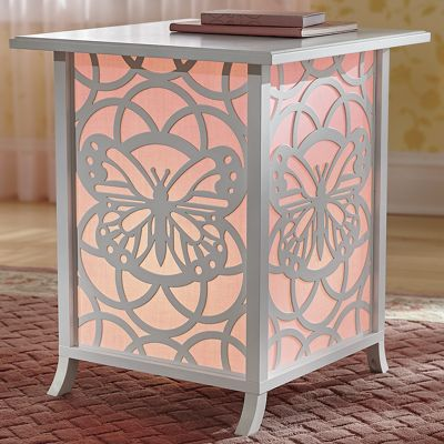 Butterfly Lighted End Table