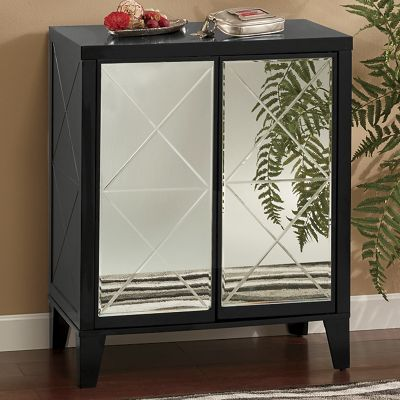 2-Door Mirrored Cabinet