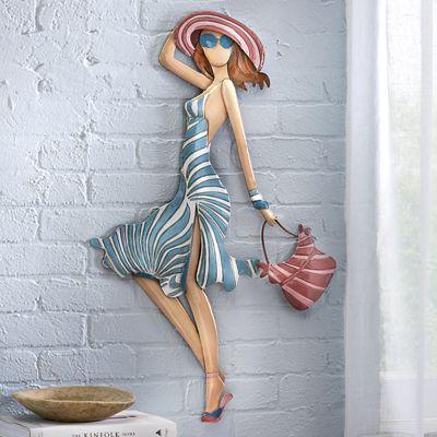 Blue Dress Shopping Lady