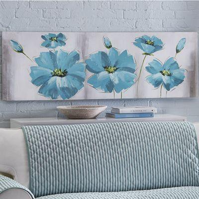 Blue Flowers Print