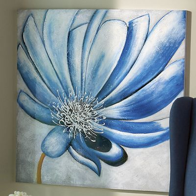 Hand-Painted Floral Canvas
