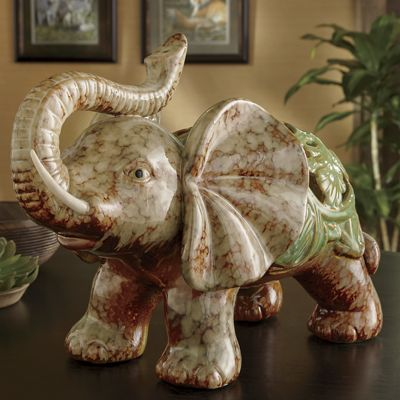 Ceramic Elephant Figurine