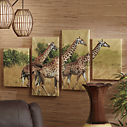 4 pc  giraffe canvas set