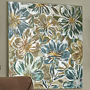 hand painted flower canvas