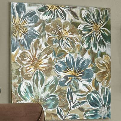Hand-Painted Flower Canvas