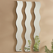3 pc  wave mirror set