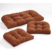 pattern perfect 3 pc  wicker cushion set