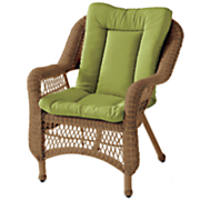 pattern perfect patio chair cushion with ties