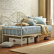 cream scroll daybed