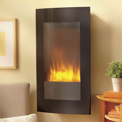 Wall-Mount LED Fireplace with Stand