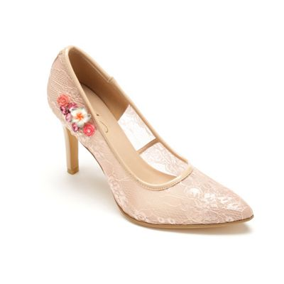 Lace and Appliqué Pump by Midnight Velvet