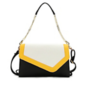 cosmos colorblock envelope clutch