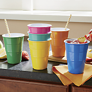 6 pc  colorful tumbler set