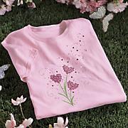 heart flower tee