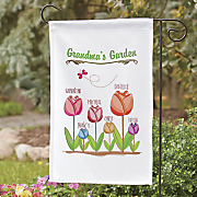 personalized grandma flag and garden stake