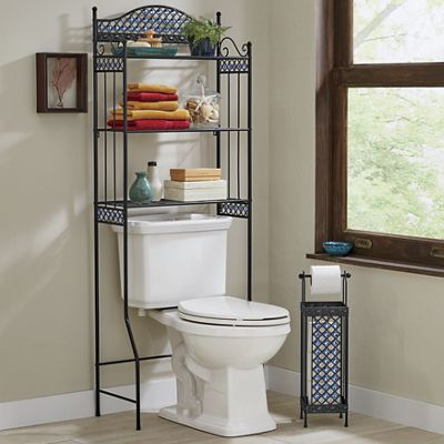 Beaded Bath Space Saver and Toilet Paper Holder