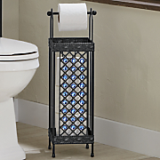 beaded bath toilet paper holder