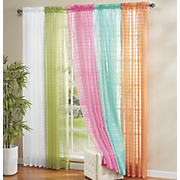 honey sheer voile panel pair