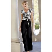 stripes away jumpsuit