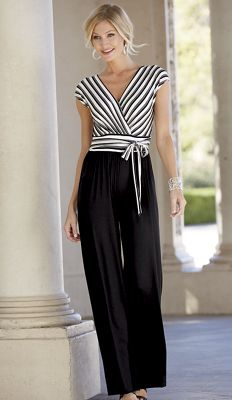 Stripes Away Jumpsuit