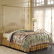 gold 4 poster spindle canopy bed