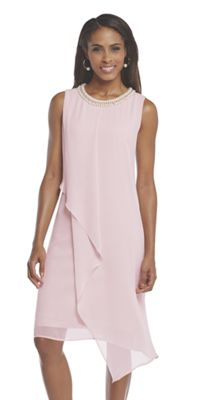 Pearl Trim Trapeze Dress