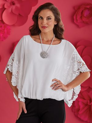 Side Embroidered Top