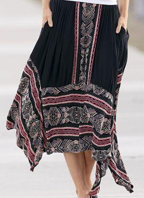 Crinkle-Border Skirt