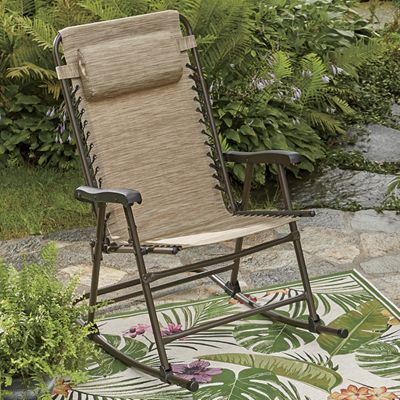 Movin' and Groovin' Folding Outdoor Rocker
