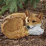 realistic resting fox