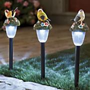 3 pc  solar bird stake light set
