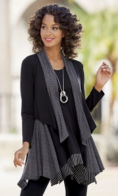 Mixed-Fabric Jacket