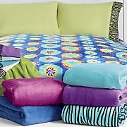 Bright Microplush Blanket  Tie Dye or Zebra