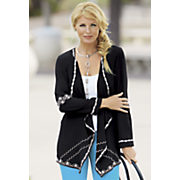 lena embroidered duster jacket