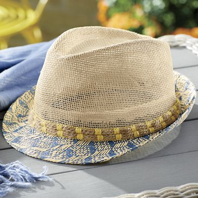 Brim Patterned Paper Fedora