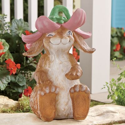 Bunny with Flower Hat