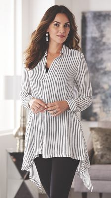 Ashley Pinstripe Shirt