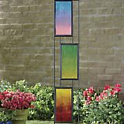 rainbow garden stake