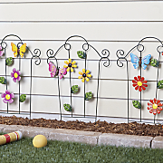 3 pc  flower fence panel set