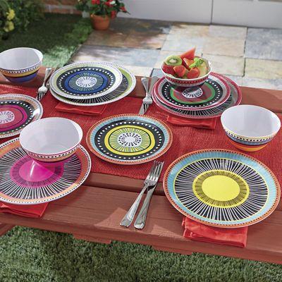 12-Piece Almira Melamine Dinnerware Set