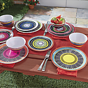 12 pc  almira melamine dinnerware set