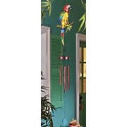 solar parrot wind chime