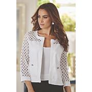lace cutwork jacket 69