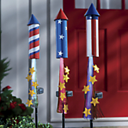 3 pc  solar fireworks stakes set